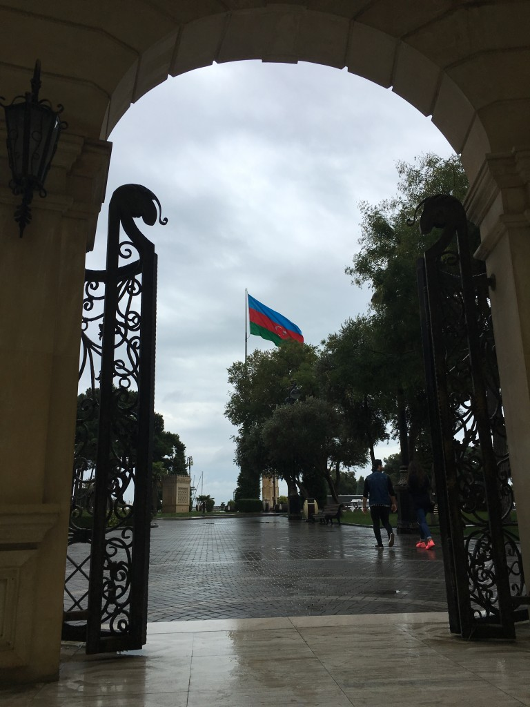 You see Azerbaijani flag quite a lot in Baku