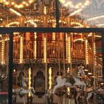 One of the many carousels in the Bulvar Park along the Caspian Sea