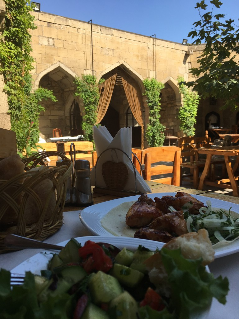 Lunch in the quiet of one of the Caravanserais