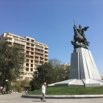 Baku is full of squares and parks with big statues  of  some important people