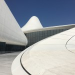 The curves and the white against the perfect blue sky, so inspiring - Heydar Aliyev Center