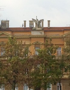 There were many buildings from an era where a big statue on top of your building was the thing