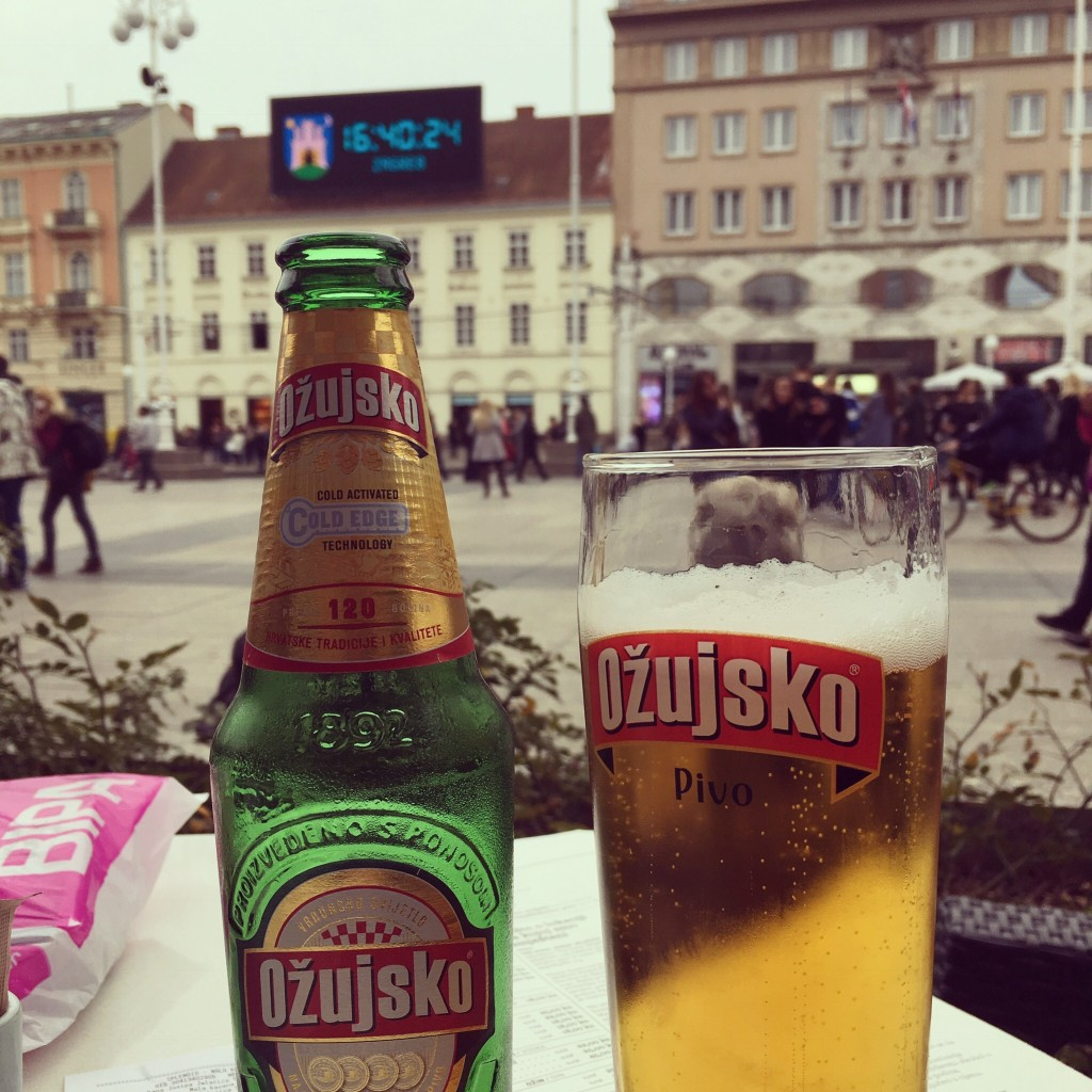 Local pilsner on the main square