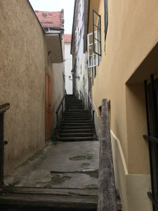 One of many stair ways in Upper town
